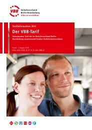 Der VBB-Tarif - Südbrandenburger Nahverkehrs GmbH