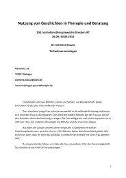 Nutzung von Geschichten in Therapie und Beratung - Dr. Clemens ...