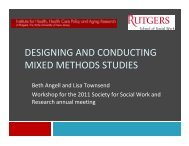 designing and conducting mixed methods studies - Society for ...