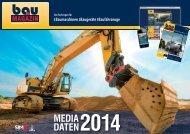 Mediadaten bauMAGAZIN 2014 als PDF