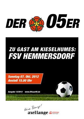 Der 05er - SV Saar 05 Fußball e.V.