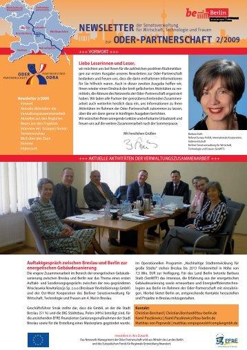 2/2009 Newsletter - Oder-Partnerschaft