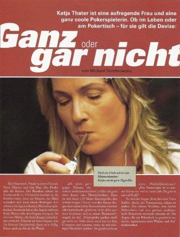 Poker Magazin - Katja Thater