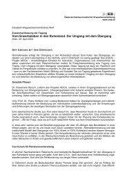 Vom Erwerbsleben in den Ruhestand - Österreichisches Institut für ...