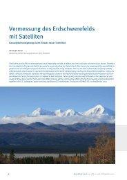 Vermessung des Erdschwerefelds mit Satelliten