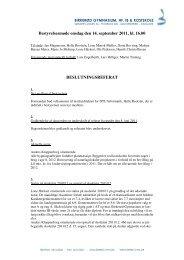 Referat af møde 14/9 2011 - Birkerød Gymnasium, hf, IB og Kostskole