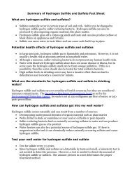 Summary of Hydrogen Sulfide and Sulfate Fact Sheet What are ...