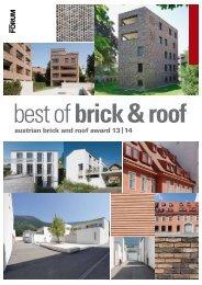 'best of brick and roof' 2013/14 mit allen Projektdarstellungen - Gat