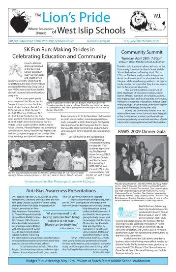 Feb/Mar/Apr 09 Edition - the West Islip School District