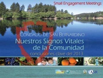 Nuestros Signos Vitales de la Comunidad - Community Vital Signs ...