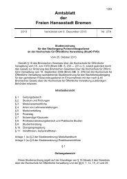 Amtsblatt der Freien Hansestadt Bremen