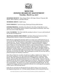 MINUTES ZONING BOARD OF ADJUSTMENT Tuesday, March 13 ...