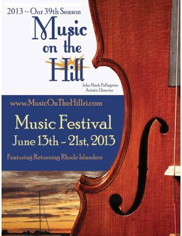 program book - music on the hill