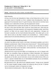 Gott und unsere Bilder von ihm - MG - EMK Winterthur