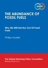 the abundance of fossil fuels - The Global Warming Policy Foundation