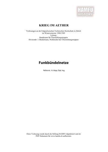 Funkbündelnetze - Stiftung HAMFU