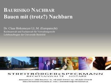 Bauen mit (trotz?) Nachbarn - Streitbörger and Speckmann