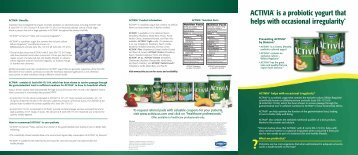 ACTIVIA® is a probiotic yogurt that helps with ... - Activia - Us.com