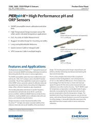 ™ High Performance pH and ORP Sensors - Emerson Process ...