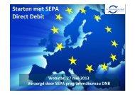 'Starten met Sepa Direct Debit' (PDF-File, 2.6Mb - Over op IBAN