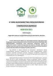 II Targi Budownictwa Ekologicznego i Energooszczędnego