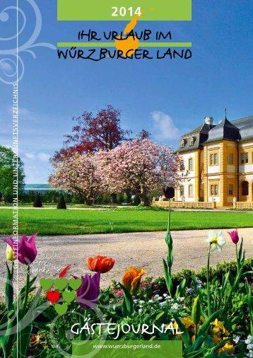Prospekt - im Würzburger Land