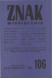 Nr 106, kwiecień 1963 - Znak