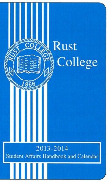 Student Handbook - Rust College