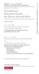 Ein inklusives Education-Projekt des Klavier-Festivals Ruhr