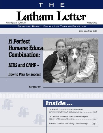 Measuring the Efficacy of Humane Education - The Latham ...