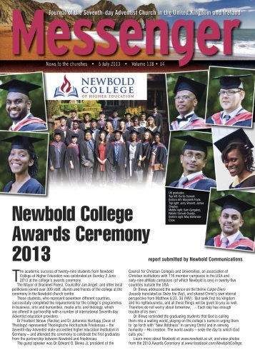 Newbold College Awards Ceremony 2013 - Seventh-day Adventist ...