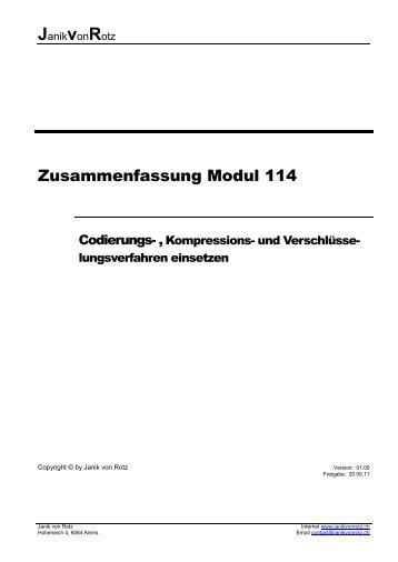 Modul 114_Codierungs-, Kompressions - Janik von Rotz