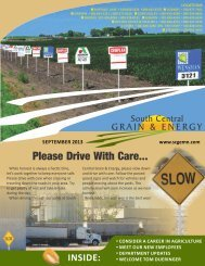 SCGE Fall 2013 Newsletter - South Central Grain & Energy