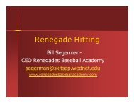 Renegade Hitting - SportsManager