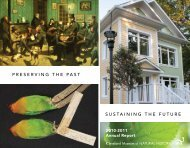 sustaining the future preserving the past - Cleveland Museum of ...