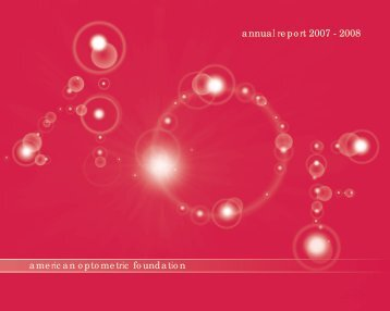 annual report 2007 - American Academy of Optometry