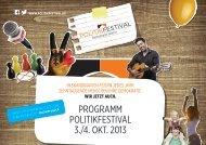 festival-programm - Politikfestival