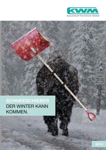 Schneeschieber-Prospekt - KWM Kunststoff-Formteile GmbH