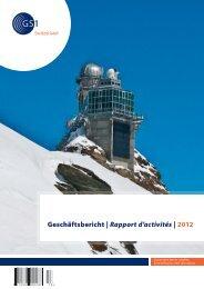 Geschäftsbericht | Rapport d'activités | 2012 - GS1