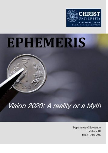 Vision 2020: A reality or a Myth - Christ University
