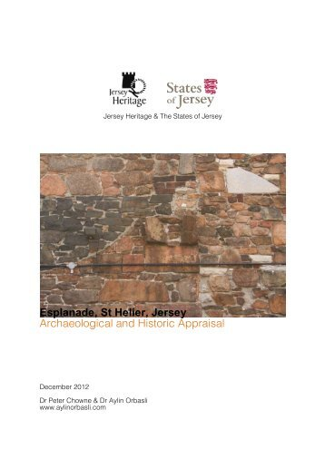 archaeological and historic appraisal - States of Jersey