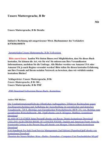 Unsere Muttersprache, B Brpdf ebooks von kostenlosen Download