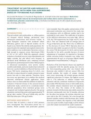 treatment of goiter and nodules is successful with non-tsh ...
