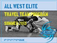 Summer 2013 Powerpoint – 4th, 5th, 6th, 7th ... - All West Lacrosse