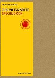 Geschäftsbericht 2012 - Deutsche Post DHL