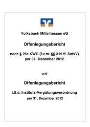 Offenlegungsbericht herunterladen - Volksbank Mittelhessen eG