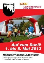 Auf zum Duell! 1. bis 8. Mai 2013 - Schweiz bewegt