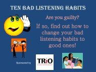 Ten Bad Listening Habits