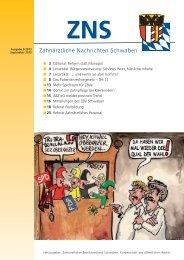 Zahnärztliche Nachrichten Schwaben 9/2013 - Zahnärztlicher ...