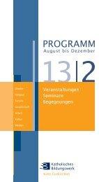 Programm KBW Euskirchen 2/2013 - Bildung vor Ort - Katholische ...